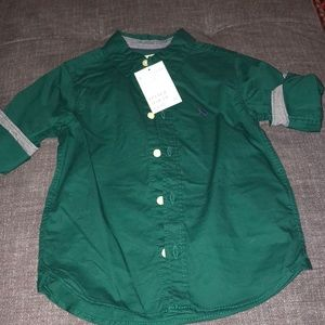 NWT H&M toddler boys buttons down sz 2-3